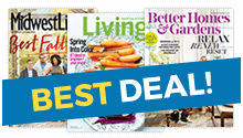 All 3 Magazines For $23.97! 1 Year Of Midwest Living® (6 Issues) 1 Year Of  Better Homes U0026 Gardens® (12 Issues) 1 Year Of Martha Stewart Living (10  Issues)