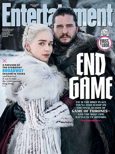 Entertainment Weekly November 9, 2018 Cover