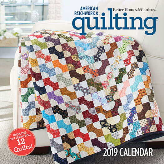 Cover of American Patchwork & Quilting 2019 Calendar & Pattern Booklet