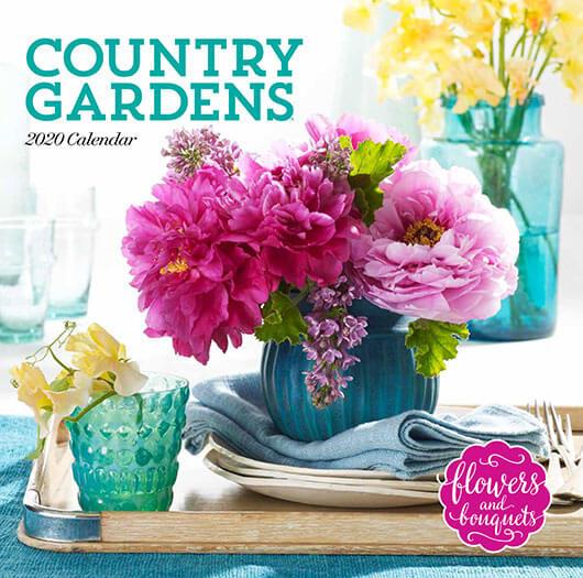 Cover of Country Gardens Calendar 2020
