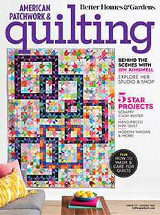 Latest issue of American Patchwork and Quilting