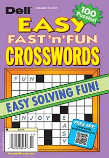 Latest issue of Dells Best Easy Fast and Fun Crosswords
