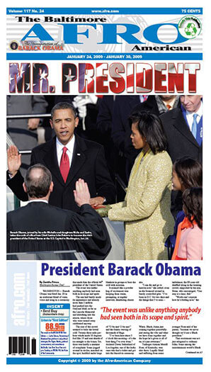 Latest issue of Baltimore Afro American Newspaper