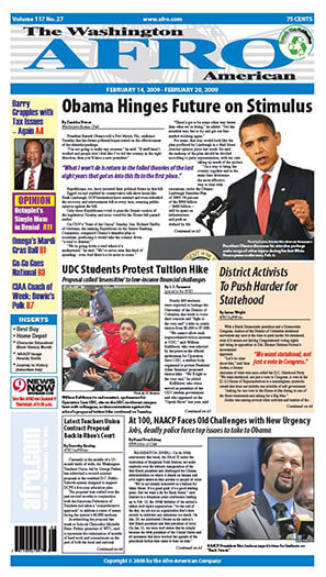 Latest issue of Washington Afro-American Newspaper