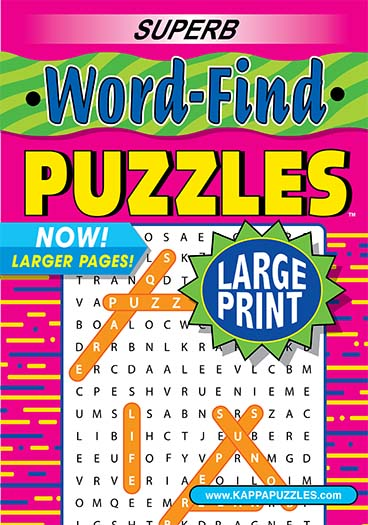 Latest issue of Superb Word-Find Large Print Magazine