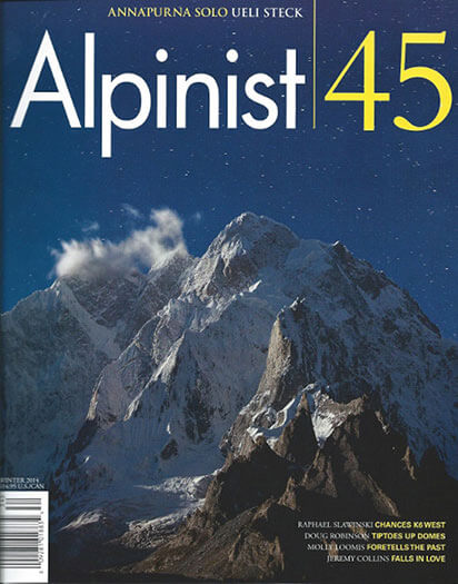 Latest issue of Alpinist