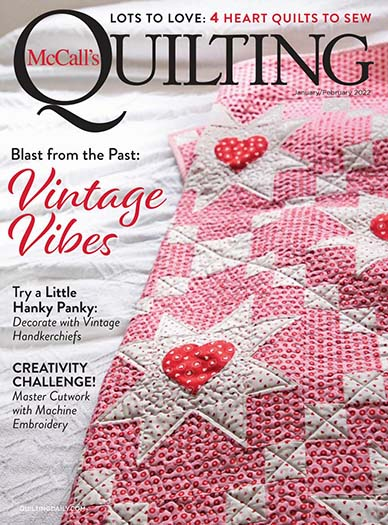 Latest issue of McCall's Quilting Magazine