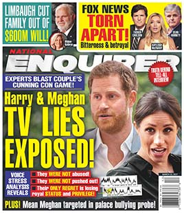 Latest issue of The National Enquirer Magazine