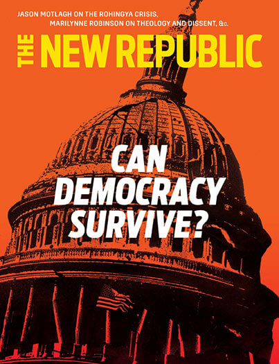 Latest issue of New Republic Magazine