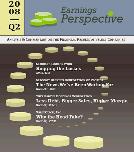Latest issue of Earnings Perspective