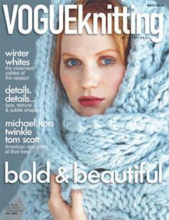 Latest issue of Vogue Knitting International Magazine