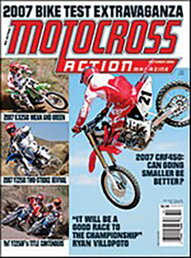 Latest issue of Motocross Action Magazine