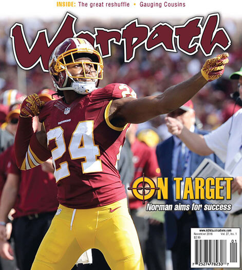 Latest issue of Redskins Warpath Magazine