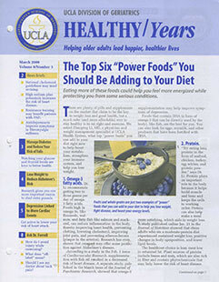 Latest issue of Healthy Years Magazine