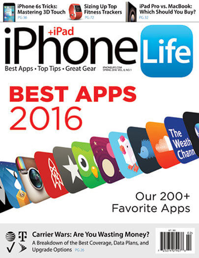 Latest issue of iPhone Life Magazine