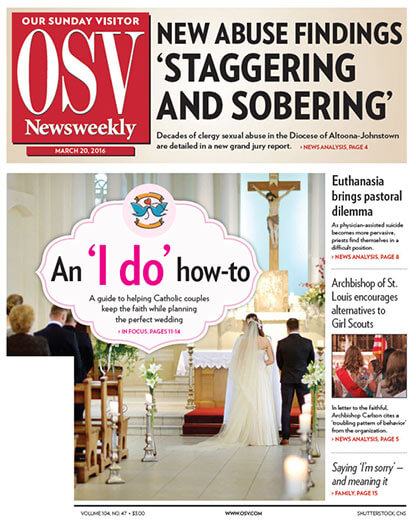 Subscribe to OSV Newsweekly Newspaper