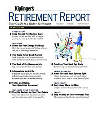 Latest issue of Kiplinger's Retirement Report
