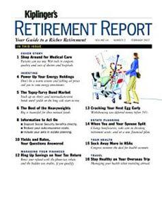 Latest issue of Kiplinger's Retirement Report