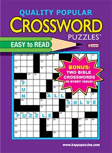 Latest issue of Quality Popular Crossword Puzzles (Jumbo) Magazine