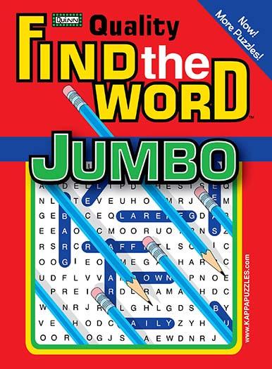 Quality Find the Word Jumbo Magazine