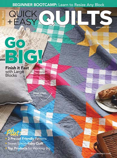 Latest issue of Quick Quilts Magazine