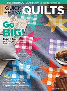 Latest issue of Quick & Easy Quilts Magazine
