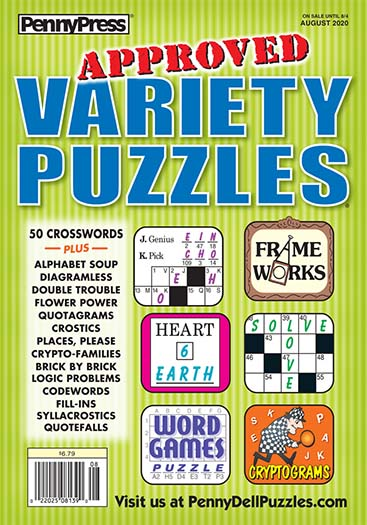 Latest Issue of Approved Variety Puzzles Magazine