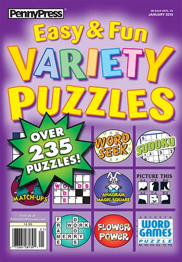 Subscribe to Approved Easy & Fun Variety Puzzles
