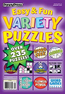 Latest issue of Approved Easy Fun Variety Puzzles
