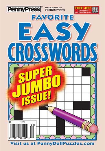 Best Price for Favorite Easy Crosswords Magazine Subscription