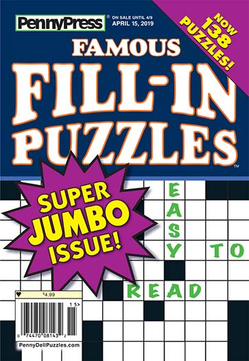 Latest issue of Penny's Famous Fill-In Puzzles Magazine