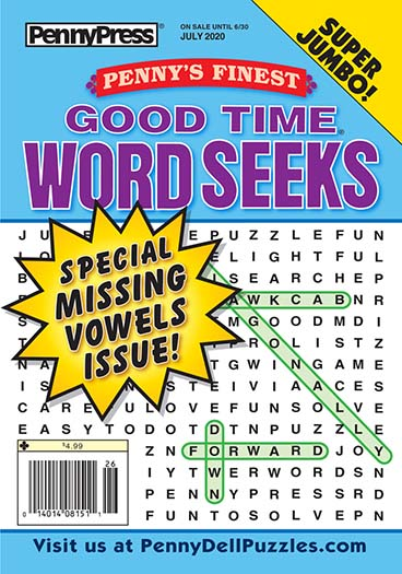 Latest issue of Penny's Finest Good Time Word Seeks Magazine