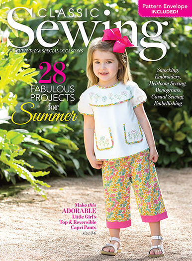 Latest issue of Classic Sewing