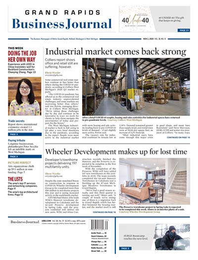 Latest issue of Grand Rapids Business Journal