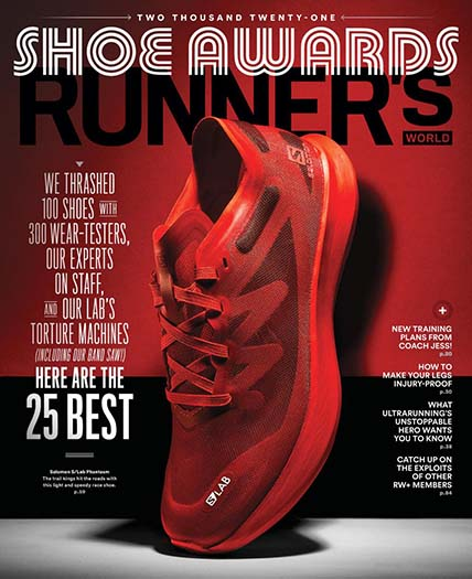 Latest issue of Runner's World