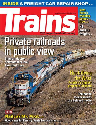 Latest issue of Trains Magazine