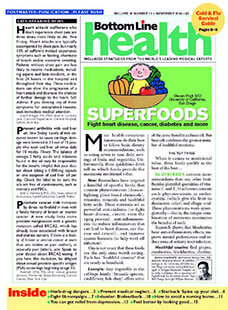Latest issue of Bottom Line Health