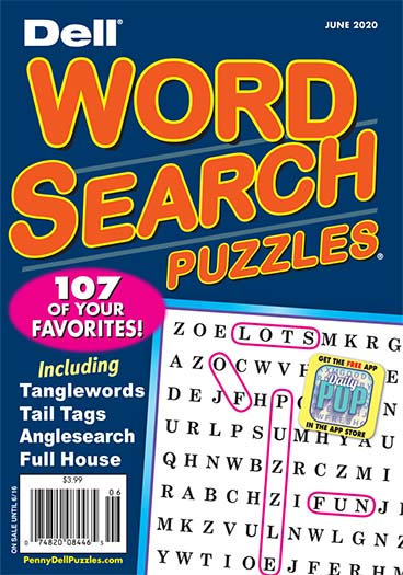 Latest issue of Dell Word Search Puzzles Magazine