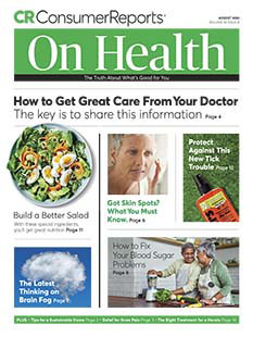 Latest issue of Consumer Reports on Health