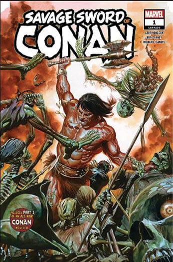 Latest issue of Savage Sword of Conan Magazine