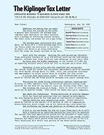 The Kiplinger Tax Letter 1 of 5