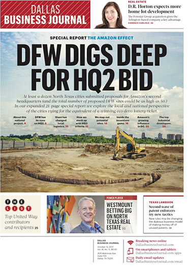 Latest issue of Dallas Business Journal