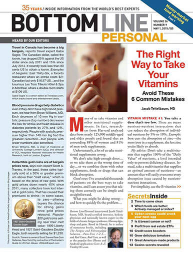 Latest issue of Bottom Line/Personal