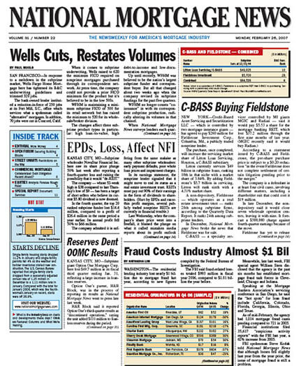 Latest issue of National Mortgage News