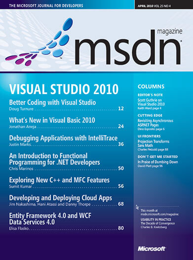 Subscribe to MSDN Magazine