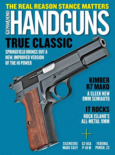 Latest issue of Handguns Magazine