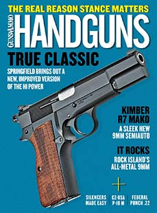 Latest issue of Handguns Magazine