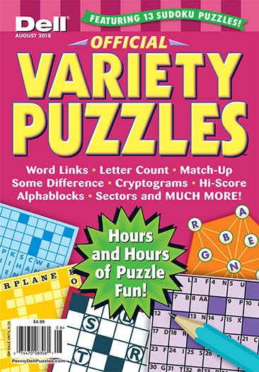 Latest issue of Dell Official Variety Puzzles