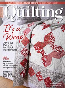 Latest issue of Fons and Porters Love of Quilting