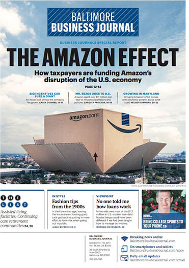 Latest issue of Baltimore Business Journal